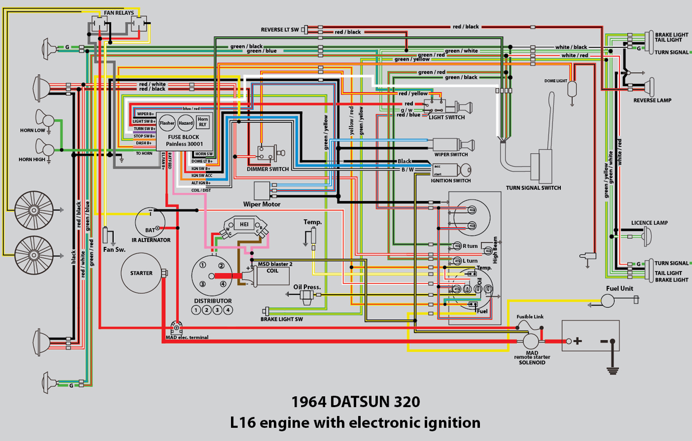 My Rusty L320 Build 320 Ratsun Forums Datsun 620 Wiring Diagram For Distributor Newwiring